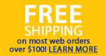Freee Shipping on Web orders over $100